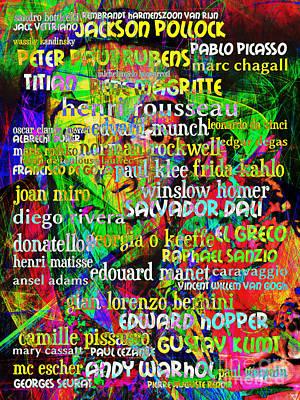 Edvard Munch Digital Art - Salvador Dali Masters Of Art 20130625 by Wingsdomain Art and Photography
