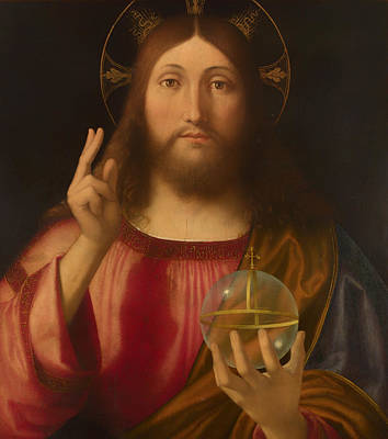 Christian Artwork Painting - Salvador Mundi by Mountain Dreams