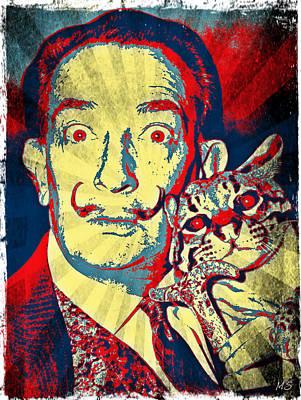 Digital Art - Salvadore Dali - Pop Art by Absinthe Art By Michelle LeAnn Scott