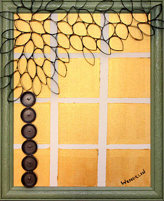 Salvaged Paper Or Plastic Tree 01 Art Print by Wendelin Dunlap