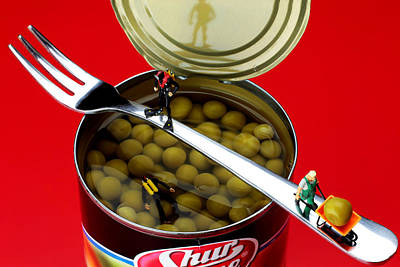 Photograph - Salvaging Sweet Beans Little People On Food by Paul Ge