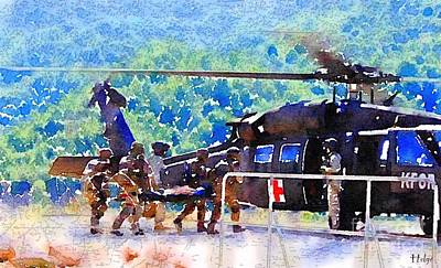 Kosovo Painting - Salvation by Helge
