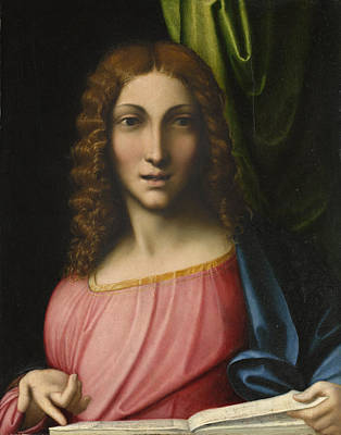 16th Century Painting - Salvator Mundi by Antonio Allegri Correggio