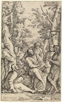 Plato Drawing - Salvator Rosa Italian, 1615 - 1673, The Academy Of Plato by Quint Lox