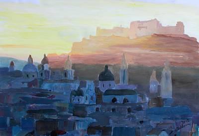 Salzburg At Dusk Original by M Bleichner