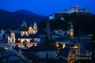 Photograph - Salzburg Austria At Night by Rudi Prott
