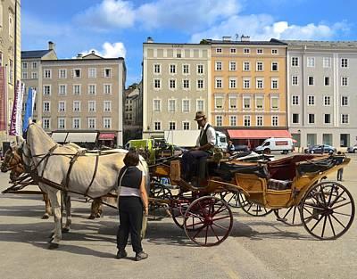Salzburg Cabbie Art Print
