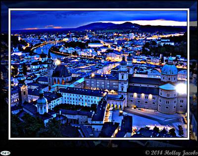 Digital Art - Salzburg by Holley Jacobs