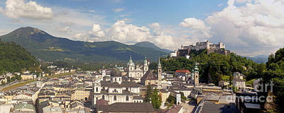 Photograph - Salzburg Panorama 1 by Rudi Prott