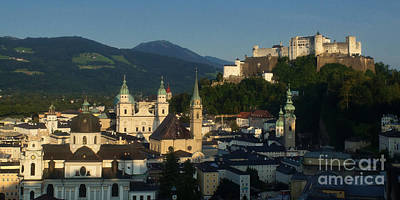 Photograph - Salzburg Panorama 13 by Rudi Prott
