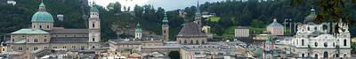 Photograph - Salzburg Panorama 14 by Rudi Prott