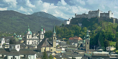 Photograph - Salzburg Panorama 3 by Rudi Prott