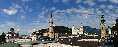 Photograph - Salzburg Panorama 8 by Rudi Prott