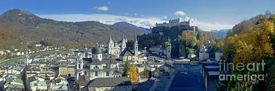Photograph - Salzburg Panorama In Autumn 2 by Rudi Prott