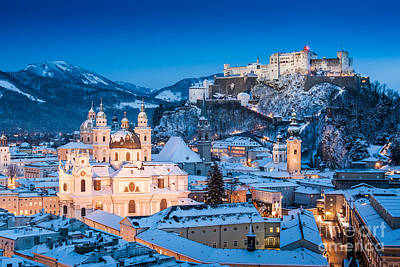 Salzburg Winter Romance Art Print by JR Photography