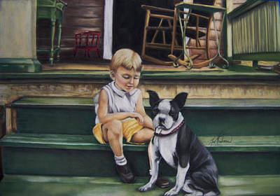 Sam And Gippy Art Print by Leah Wiedemer