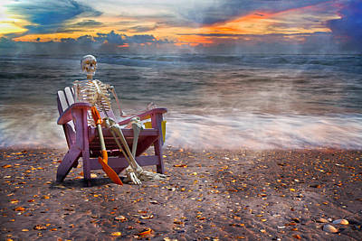 Skeleton Photograph - Sam And His Favorite Adirondack by Betsy C Knapp