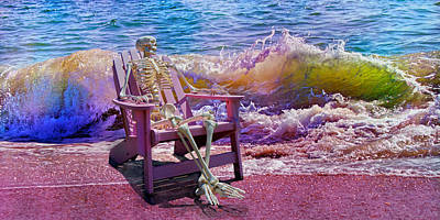 Frozen Digital Art - A-loon On The Beach  by Betsy Knapp