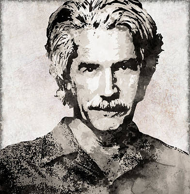 Tombstone Digital Art - Sam Elliott 3 by Daniel Hagerman