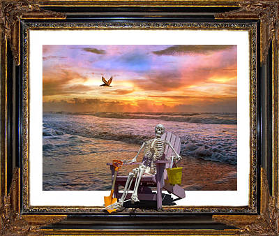 Pelican Digital Art - Sam Hangs Out With The Sunrise by Betsy Knapp