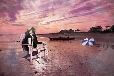 Umbrellas Digital Art - Sam Takes A Break From Kayaking by Betsy C Knapp