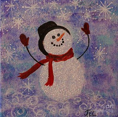 Painting - Sam The Snowman by Jane Chesnut