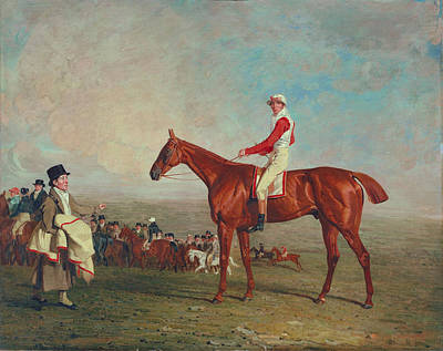 Silk Painting - Sam With Sam Chifney, Jr., Up, 1818 by Benjamin Marshall
