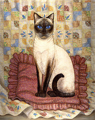 Kitten Painting - Samantha Cat by Linda Mears