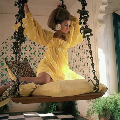 Samantha Jones Wearing A Yellow Dress By Rudi Art Print