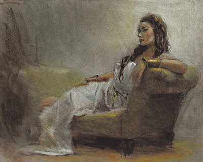 Life Drawing Pastel - Samantha Painted From Life by Karen Whitworth