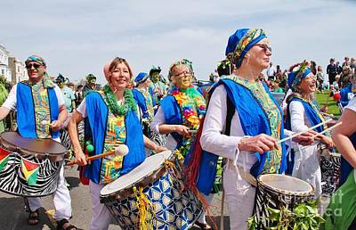 Photograph - Samba Drummers At Jack In The Green by David Fowler