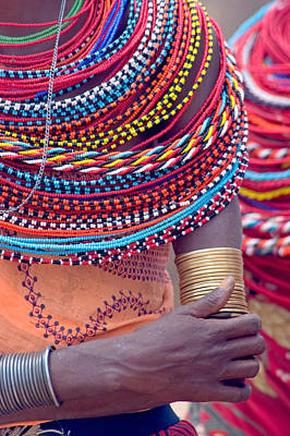Beadwork Photograph - Samburu Tribal Beadwork by Panoramic Images