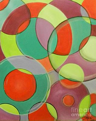 Painting - Same Shape Different Sizes by Juan Molina