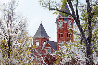 Samford Hall IIx Art Print by Victoria Lawrence