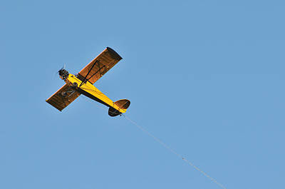 Photograph - Samll Plane With Tow Line by Bradford Martin