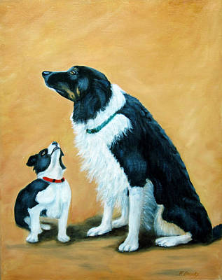 Art Print featuring the painting Sammy And Breagh by Fran Brooks