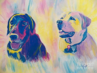 Painting - Sammy And Toby by Judy Via-Wolff