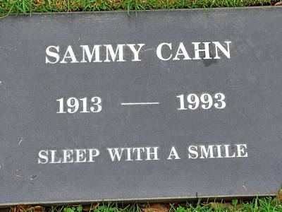 Photograph - Sammy Cahn Grave by Jeff Lowe