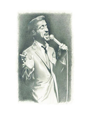 Sammy Davis Jr Art Print by Gordon Van Dusen