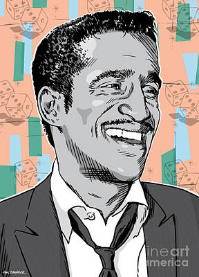 Frank Sinatra Digital Art - Sammy Davis Jr Pop Art by Jim Zahniser