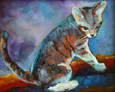 Sammy The Kitten Print by Carol Jo Smidt