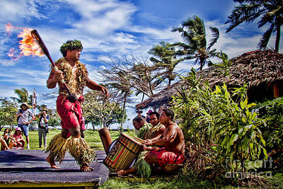 Energy Photograph - Samoan Torch Bearer by David Smith