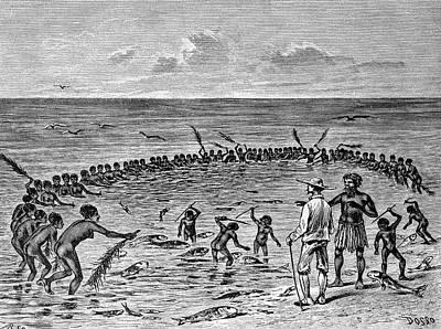 Samoans Fishing Art Print by Bildagentur-online/tschanz