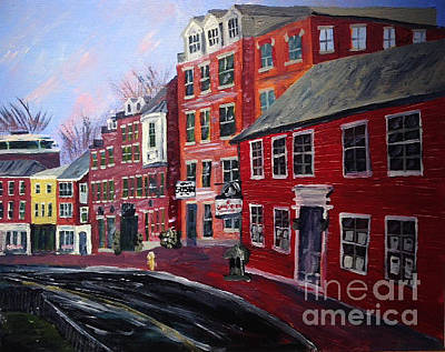 Painting - Samona's Realty On Bow Street by Francois Lamothe
