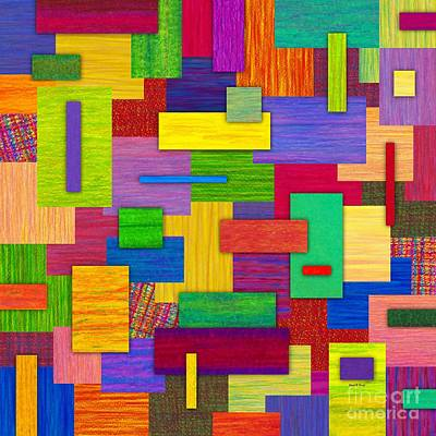Colored Pencil Abstract Painting - Sampler by David K Small