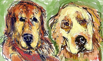 Digital Art - Sampson And Shelby by Joyce Goldin