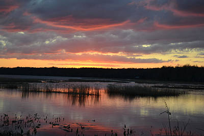 Photograph - Sampson Lake Sunset  32 by rd Erickson