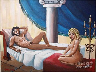 Samson And Delilah Art Print