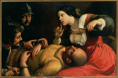 Testament Photograph - Samson And Delilah by Michelangelo Caravaggio