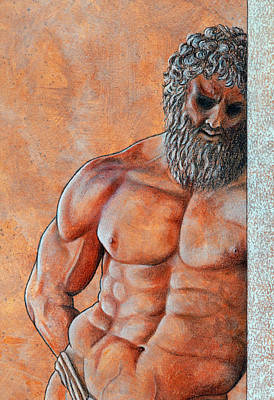 Drawing - Samson by David Clode